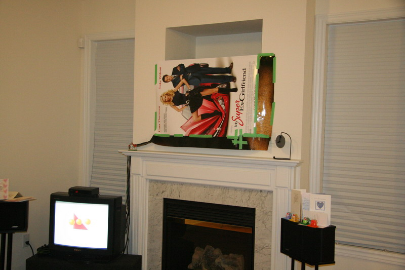 DIY Installing 46 inches LCD TV above the fireplace and patching ...