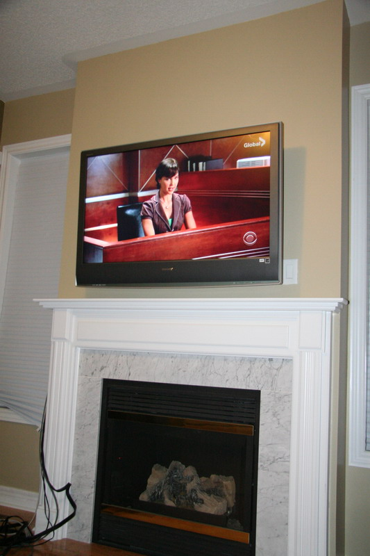 diy installing 46 inches lcd tv above the fireplace and patching thediy installing 46 inches lcd tv above the fireplace and patching the niche