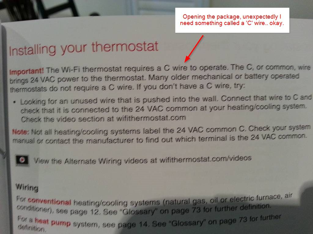 DIY installation – Honeywell WiFi Thermostat RTH9580WF and HE280 ...