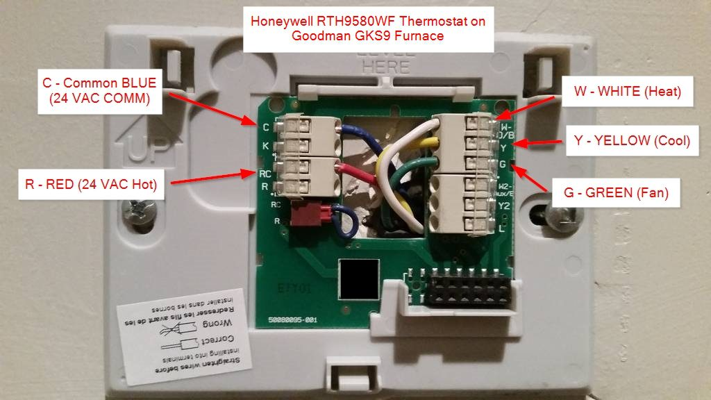 diy installation ndash honeywell wifi thermostat rth9580wf and wiring diagram older furnace blower relay wiring furnace blower