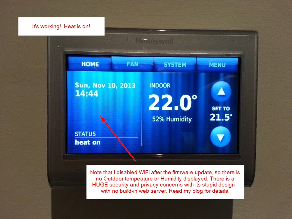 Wiring Diagram Rth9580 Honeywell Humidifier Custom Wifi Thermostat Diy Installation Rth9580wf And He280 Rh Diyable Com Humidistat