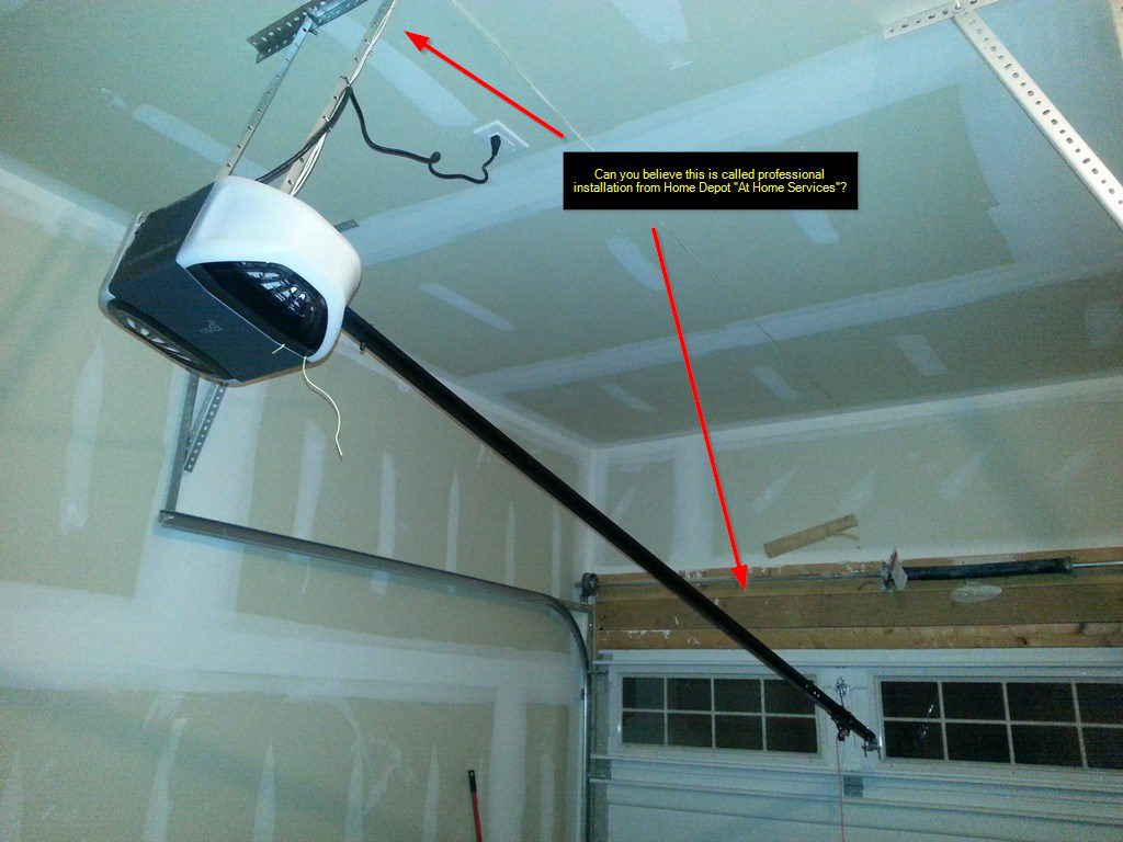 Diy fix home depot installation service fail garage for How much does it cost to replace garage door motor
