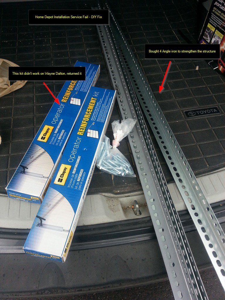 Diy Fix Home Depot Installation Service Fail Garage