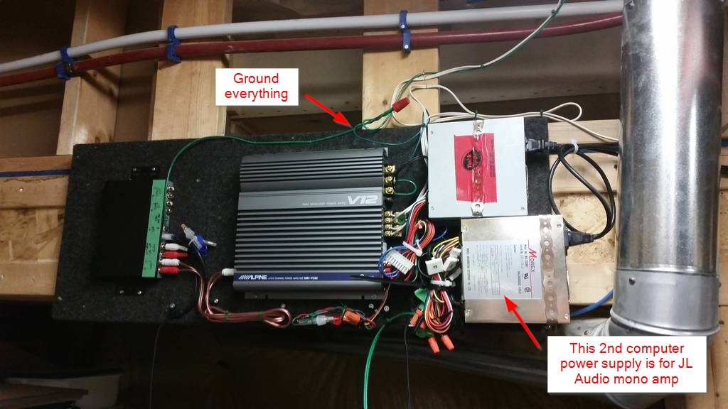 Diy Car Audio : Diy mancave using computer power supply for car audio jl