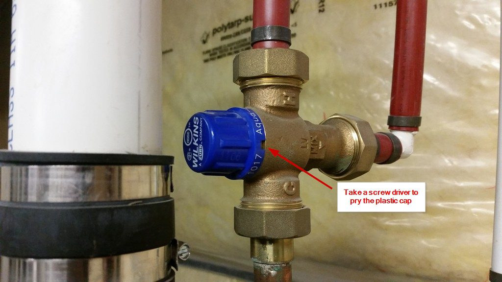 how to fix your hot water tank valve