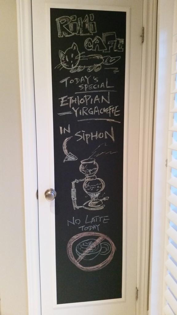 DIY Kitchen Chalkboard On Pantry Door