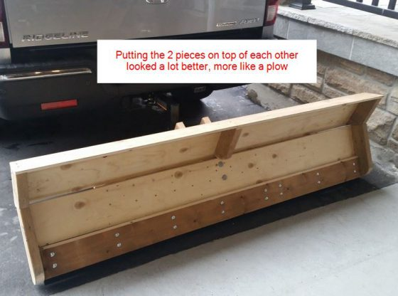 DIY Homemade Wooden Snow Plow (back