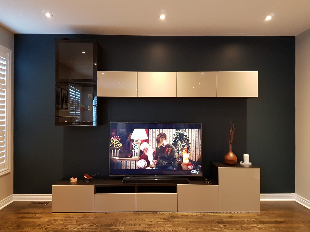 Diy Family Room Makeover Using Ikea Best 197 Wall Units